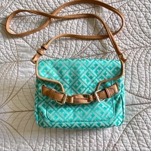 Tommy Hilfiger Small Crossbody Turquoise Purse